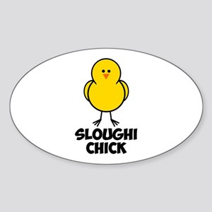 Sloughi Chick Sticker (Oval)