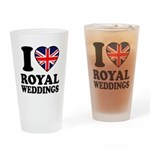 I Love Royal Weddings Drinking Glass