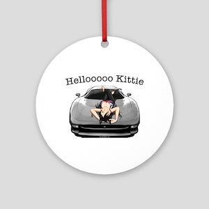 XJ220 Helloooo Kittie Ornament (Round)