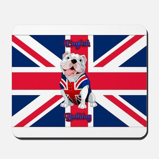 Union Jack English Bulldog Mousepad