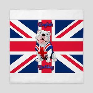Union Jack English Bulldog Queen Duvet