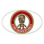 Monster fantasy 5 Sticker (Oval 10 pk)