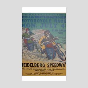 Vintage Race Rectangle Sticker