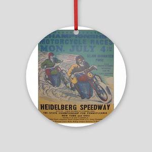 Vintage Race Ornament (Round)