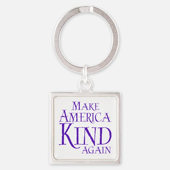 America Kind Square Keychain