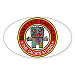 Monster fantasy 1 Sticker (Oval 50 pk)