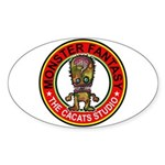 Monster fantasy 5 Sticker (Oval)