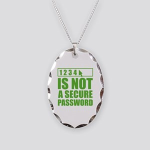Not A Secure Password Necklace Oval Charm