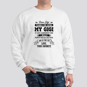 Dear Gigi, Love, Your Favorite Sweatshirt