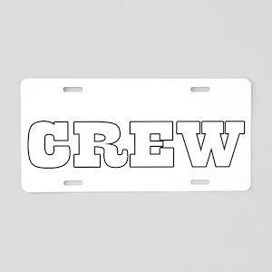 crew Aluminum License Plate