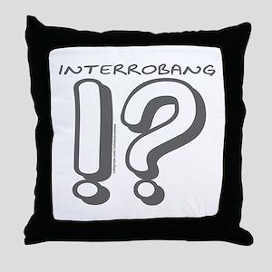 INTERROBANG Throw Pillow