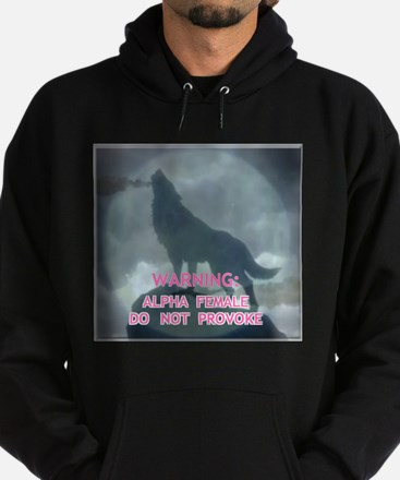 WEREWOLF ALPHA FEMALE DO NOT Hoodie (dark)