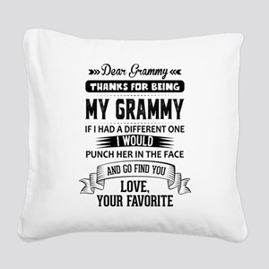 Dear Grammy, Love, Your Favorite Square Canvas Pil