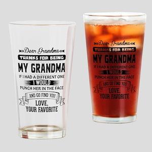 Dear Grandma, Love, Your Favorite Drinking Glass