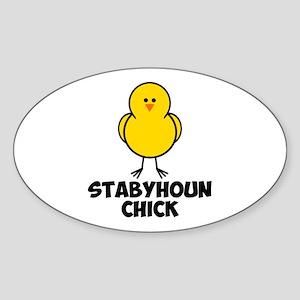 Stabyhoun Chick Sticker (Oval)
