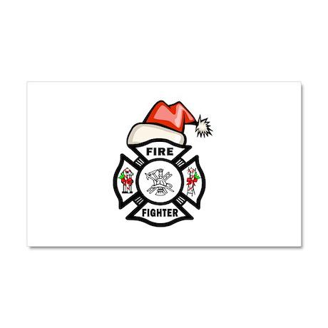 Firefighter Santa Car Magnet 20 x 12