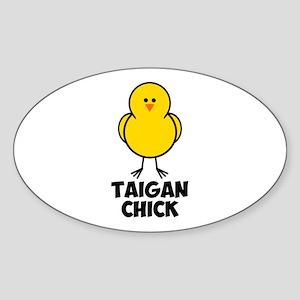Taigan Chick Sticker (Oval)