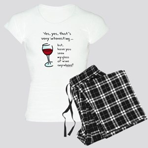 Seen my wine funny Women's Light Pajamas