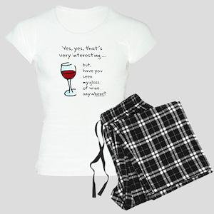 6355c7ad3a0e Seen my wine funny Women s Light Pajamas