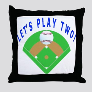 Let's Play Two Baseball Throw Pillow