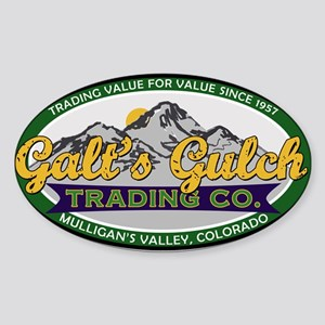 Galt's Gulch Trading Co. Sticker (Oval)