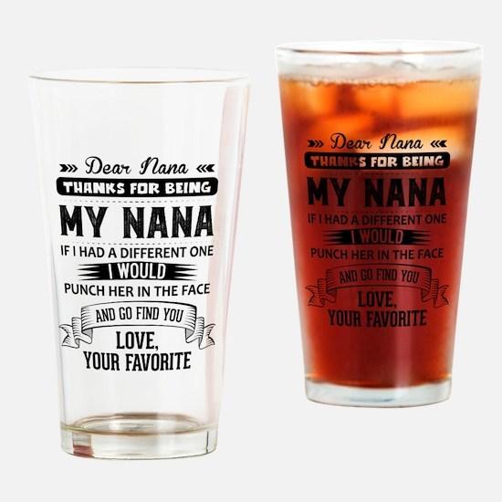 Dear Nana, Love, Your Favorite Drinking Glass