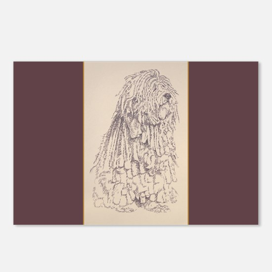 Bergamasco Sheepdog Postcards (Package of 8)