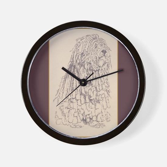 Bergamasco Sheepdog Wall Clock
