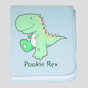 Pookie Rex baby blanket