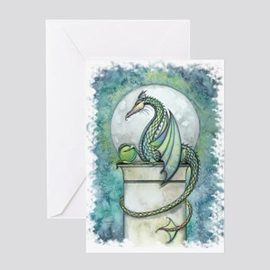 Green Dragon Fantasy Art Greeting Card