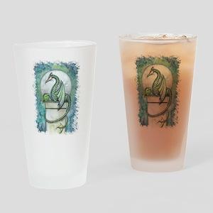 Green Dragon Fantasy Art Drinking Glass