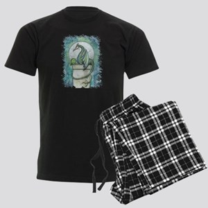 Green Dragon Fantasy Art Men's Dark Pajamas