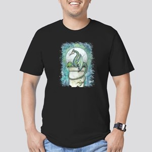 Green Dragon Fantasy A Men's Fitted T-Shirt (dark)