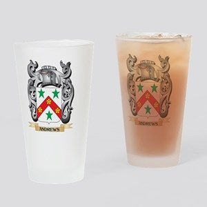 Andrews Family Crest - Andrews Coat Drinking Glass