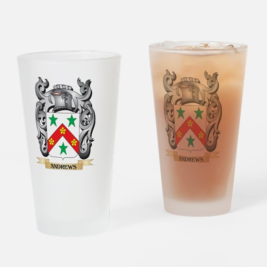 Andrews Family Crest - Andrews Coat Drinking Glass