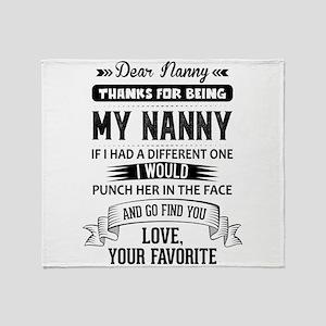 Dear Nanny, Love, Your Favorite Throw Blanket