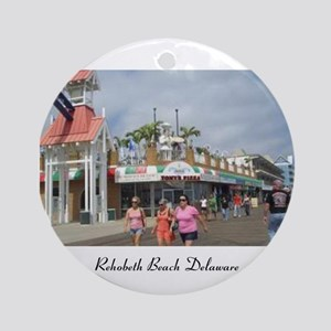 Rehoboth Beach Delaware Christmas Ornament (Round)