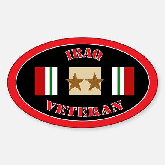 Iraq Campaign 2 Stars Sticker (Oval)