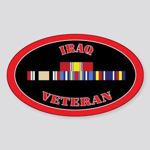 Iraq Veteran Sticker (Oval)
