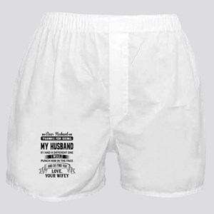 Dear Husband, Love, Your Favorite Boxer Shorts