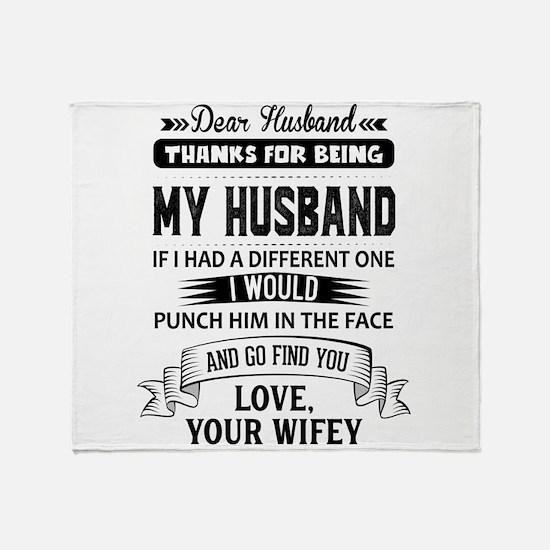 Dear Husband, Love, Your Favorite Throw Blanket