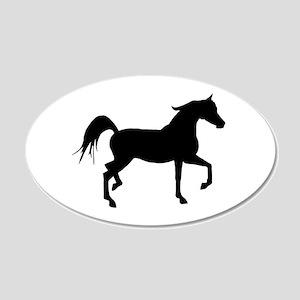 Arabian Horse Silhouette 20x12 Oval Wall Decal