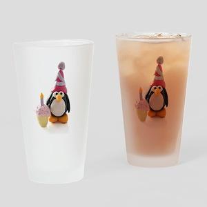 Birthday Penguin Drinking Glass