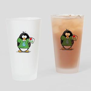 Love Earth Penguin Drinking Glass