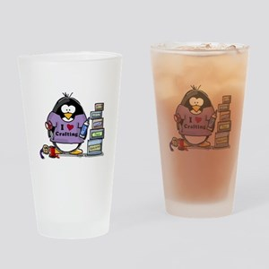 I love crafting penguin Drinking Glass