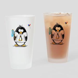 linux vs windows Penguin Drinking Glass