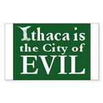 Ithaca Is The City of Evil | Rectangle Sticker