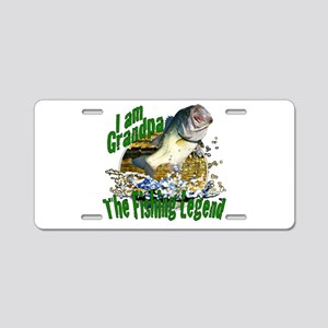 Grandpa the Bass fishing legend Aluminum License P