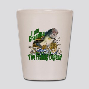Grandpa the Bass fishing legend Shot Glass