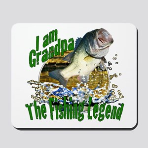 Grandpa the Bass fishing legend Mousepad